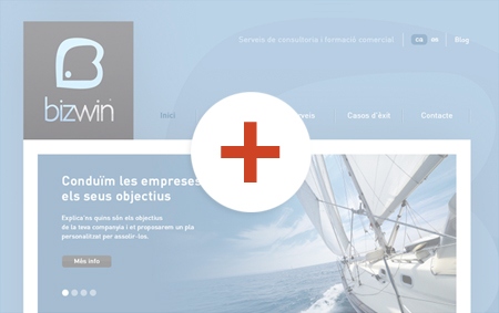 preview de disseny de pàgines web bizwin