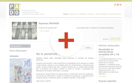 preview de disseny de pàgines web pado